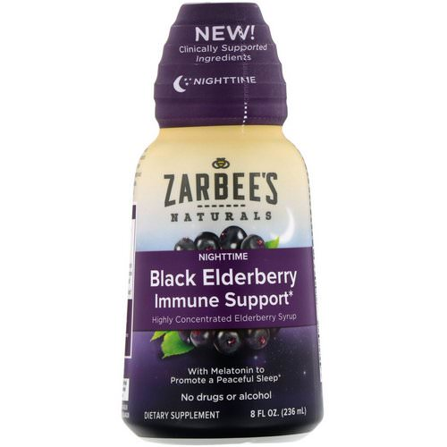 Zarbee's, NightTime Black Elderberry Immune Support, 8 fl oz (236 ml) Review