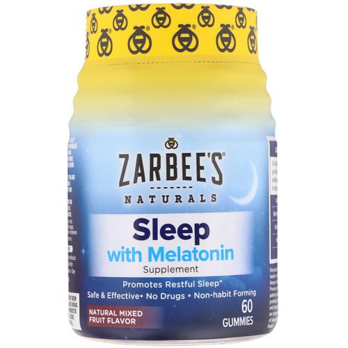 Zarbee's, Sleep with Melatonin, Natural Mixed Fruit, 60 Gummies Review