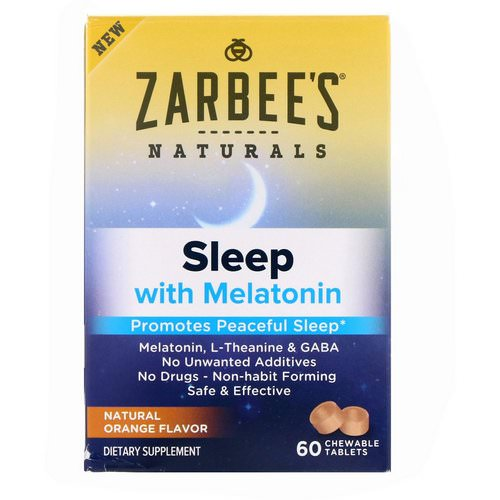 Zarbee's, Sleep with Melatonin, Natural Orange, 60 Chewable Tablets Review