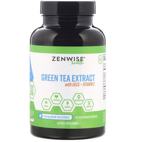 Zenwise Health, Green Tea Extract with EGCG + Vitamin C, 120 Vegetarian Capsules Review