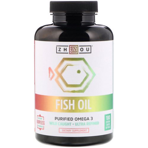 Zhou Nutrition, Fish Oil, Purified Omega 3, 180 Enteric Coated Softgels Review