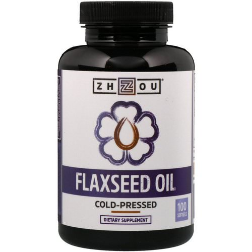 Zhou Nutrition, Flaxseed Oil, Cold-Pressed, 100 Softgels Review