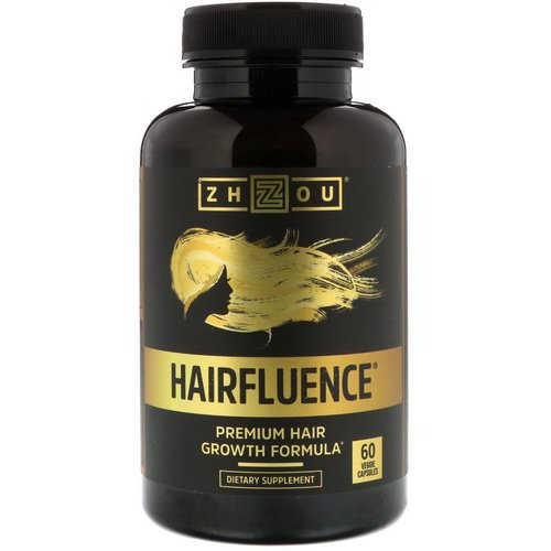 Zhou Nutrition, Hairfluence, Premium Hair Growth Formula, 60 Veggie Capsules Review