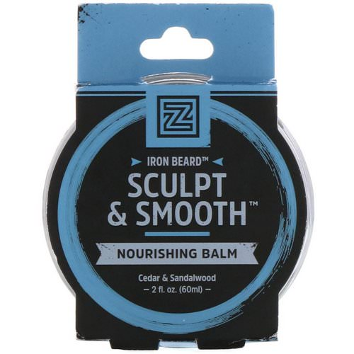 Zhou Nutrition, Iron Beard, Sculpt & Smooth Nourishing Balm, Cedar & Sandalwood, 2 fl oz (60 ml) Review