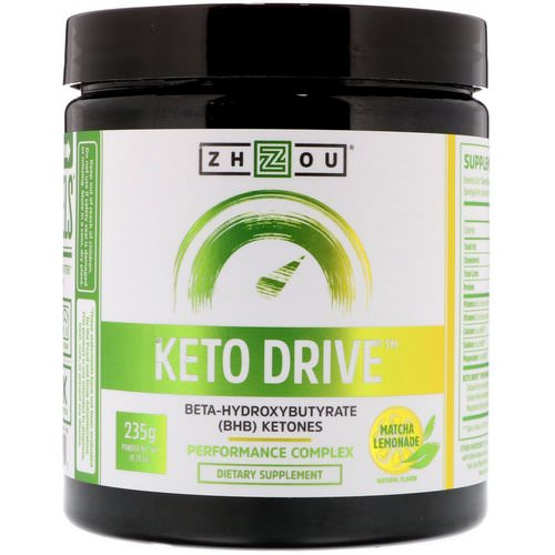 Zhou Nutrition, Keto Drive, Matcha Lemonade, 8.29 oz (235 g) Review