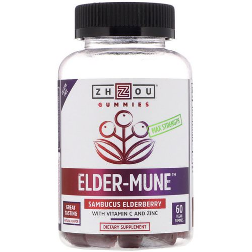 Zhou Nutrition, Max Strength Elder-Mune, Sambucus Elderberry, 60 Vegan Gummies Review
