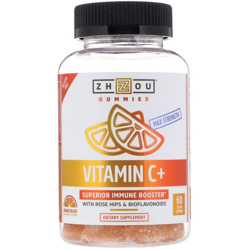 Zhou Nutrition, Max Strength Vitamin C + Superior Immune Booster, Orange Blast, 60 Vegan Gummies Review