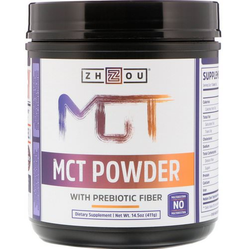 Zhou Nutrition, MCT Powder with Prebiotic Fiber, 14.5 oz (411 g) Review
