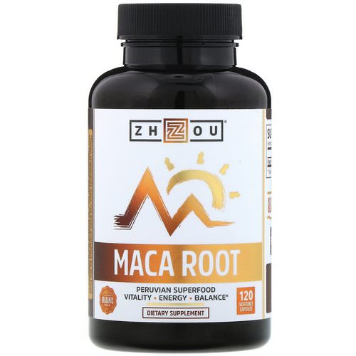 Zhou Nutrition, Organic Maca Root, 120 Vegetable Capsules Review