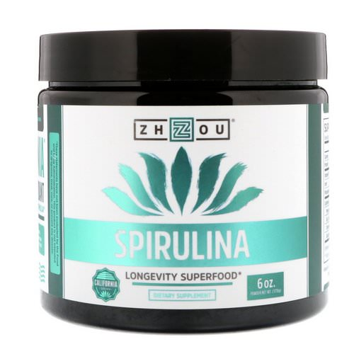 Zhou Nutrition, Spirulina, 6 oz (170 g) Review