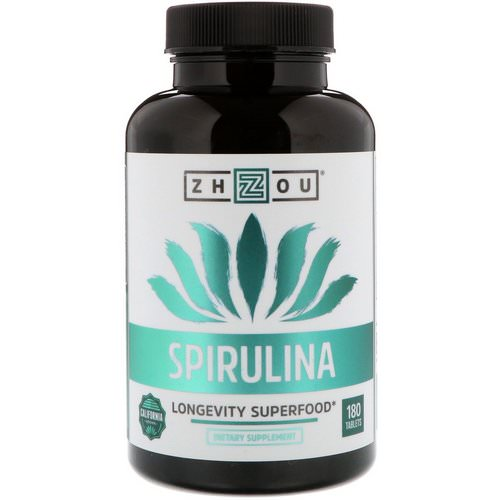 Zhou Nutrition, Spirulina, Longevity Superfood, 180 Tablets Review