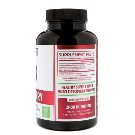 Zhou Nutrition Black Tart Cherry Extract Celery Seed