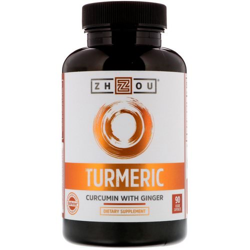 Zhou Nutrition, Turmeric, Curcumin with Ginger, 90 Veggie Capsules Review