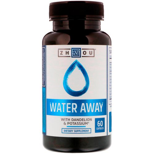 Zhou Nutrition, Water Away with Dandelion & Potassium, 60 Capsules Review