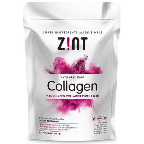 Zint, Grass-Fed Beef Collagen, Hydrolyzed Collagen Types I & III, 10 oz (283 g) Review