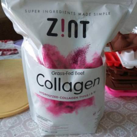 Zint, Grass-Fed Beef Collagen, Hydrolyzed Collagen Types I & III, 16 oz (454 g) Review