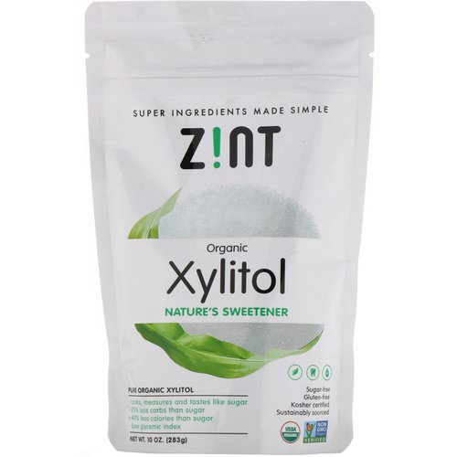 Zint, Organic Xylitol, Nature's Sweetener, 10 oz (283 g) Review