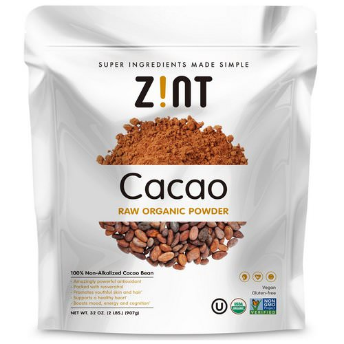 Zint, Raw Organic Cacao Powder, 2 lbs (907 g) Review
