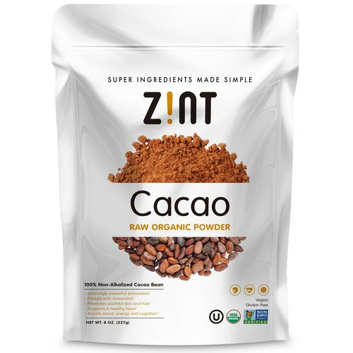 Zint, Raw Organic Cacao Powder, 8 oz (227 g) Review