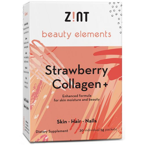 Zint, Strawberry Collagen +, 30 Individual Packets, 5 g Each Review