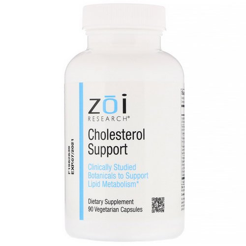 ZOI Research, Cholesterol Support, 90 Vegetarian Capsules Review