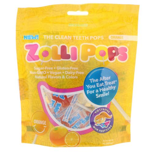 Zollipops, The Clean Teeth Pops, Orange, 15 ZolliPops, 3.1 oz Review