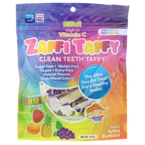 Zollipops, Zaffi Taffy, Clean Teeth Taffy, Delicious Fruit Flavors, 3.0 oz Review
