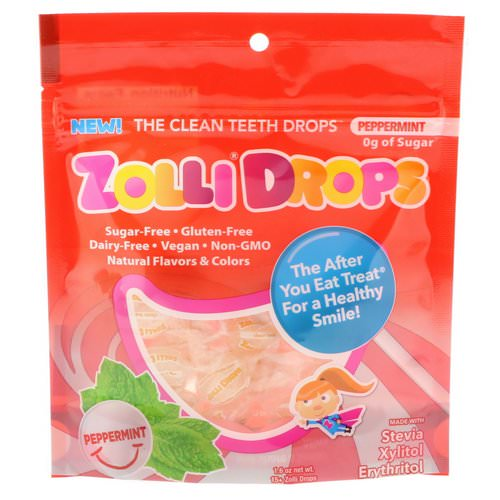 Zollipops, Zolli Drops, The Clean Teeth Drops, Peppermint, 15+ Zolli Drops, 1.6 oz Review